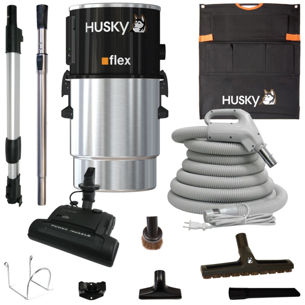 Flex Central Vacuum With Accessories And Electric Carpet Brush