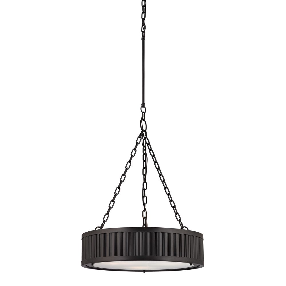 Linden Collection 3 Light Pendant In Oil Rubbed Bronze