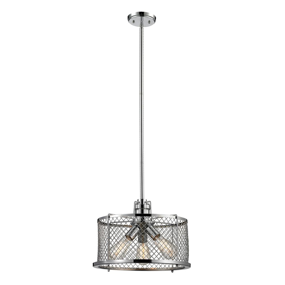 titan lighting luminaire suspendu 3 ampoules brisbane au fini chrome poli home depot canada. Black Bedroom Furniture Sets. Home Design Ideas