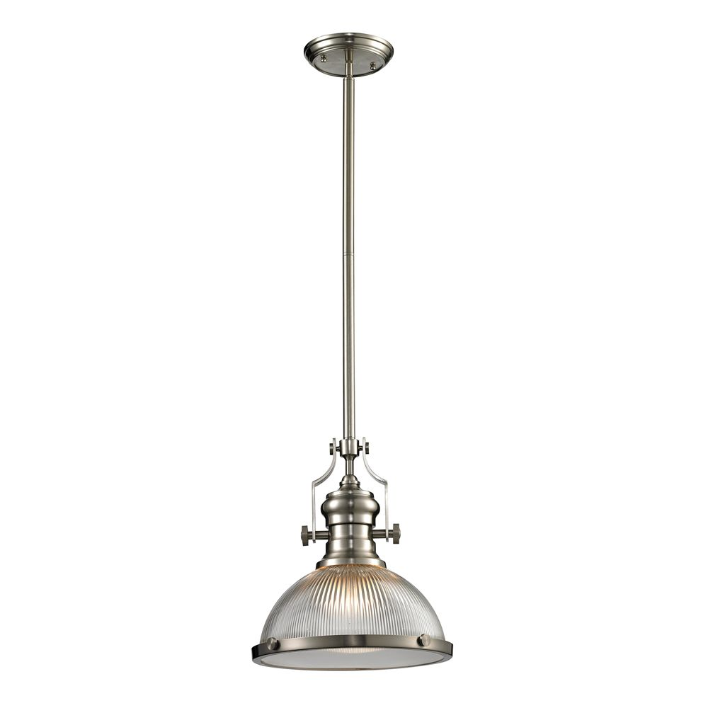 Chadwick  Collection 1 Light Pendant In Satin Nickel