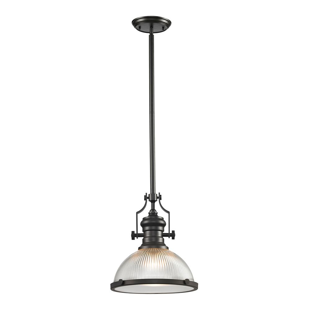 Titan Lighting Chadwick  Collection 1 Light Pendant In Oil Rubbed Bronze
