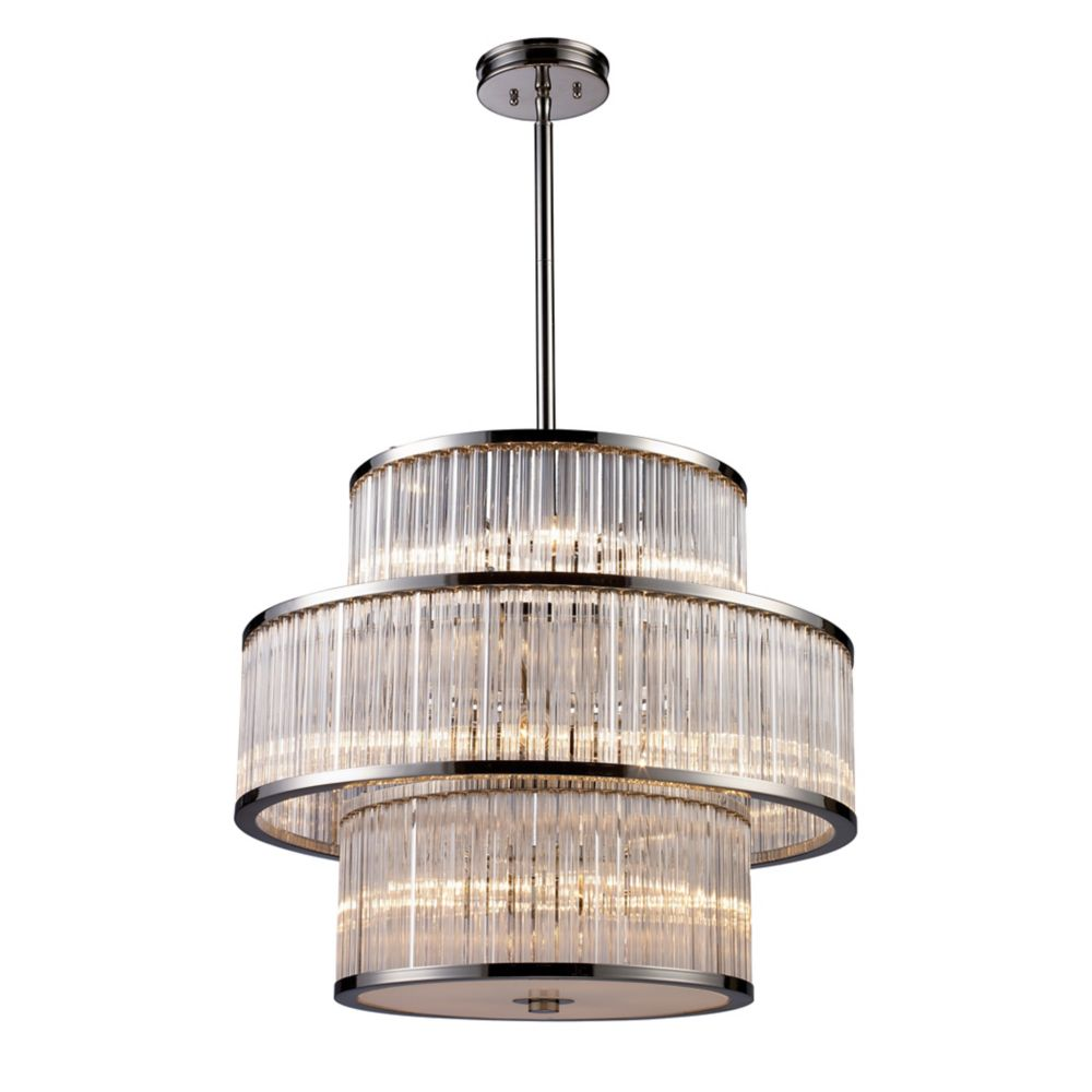 Titan Lighting Refraction 1 Light Polished Chrome With