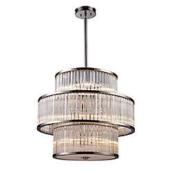 Titan Lighting Braxton 15-Light Pendant In Polished Nickel