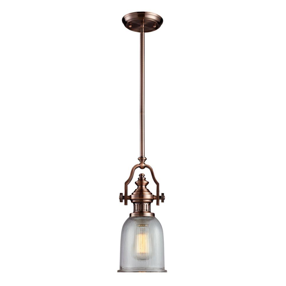 Chadwick 1 Light Pendant In Antique Copper