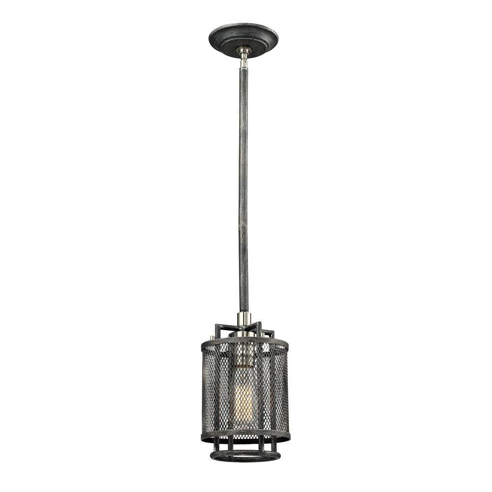 Slatington 1 Light Pendant In Silvered Graphite/Brushed Nickel