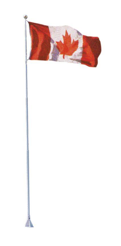 """Hampe Flexi-Flag avec drapeau canadien, 18"""""""