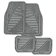 Goodyear Premium 4 Piece Rubber Car Mat - GRY
