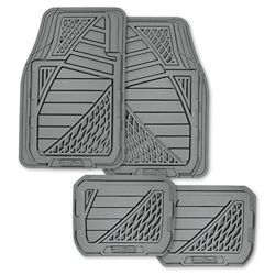 Goodyear Premium 4-Piece Rubber Car Mat - GRY