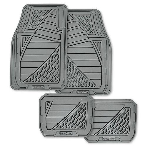 Goodyear Tapis d'auto caoutchouc Goodyear premium, 4 pces - gris
