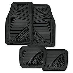 Goodyear Premium 4-Piece Rubber Car Mat - BLK