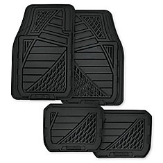 Goodyear Premium 4 Piece Rubber Car Mat - BLK