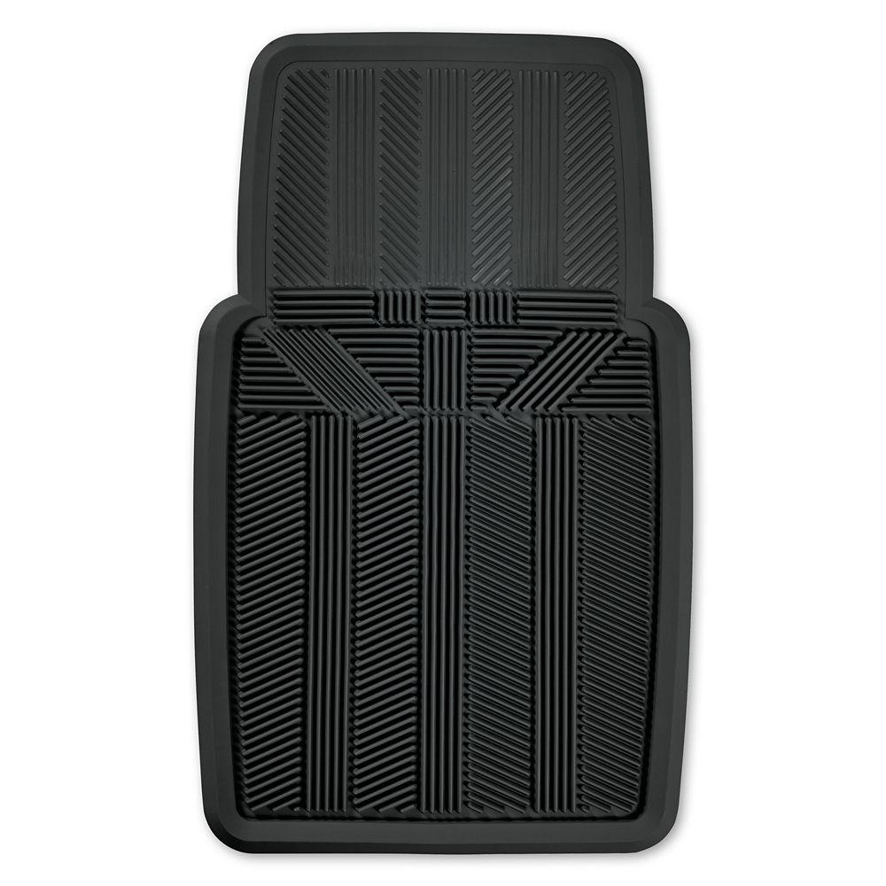 Kraco Premium 1 Piece Rubber Slush Mat - BLK