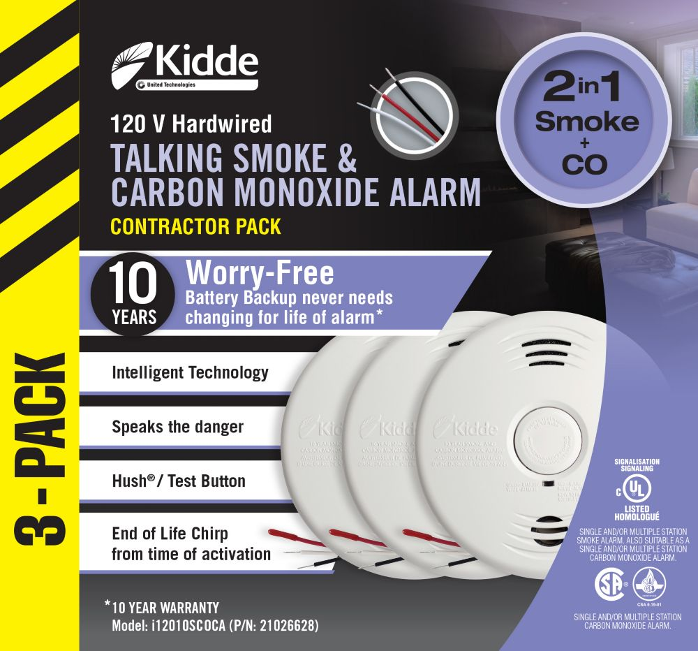 Worry Free Combination Alarms - 3 Pack