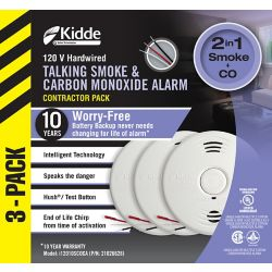 Kidde Worry Free Combination Alarms (3-Pack)