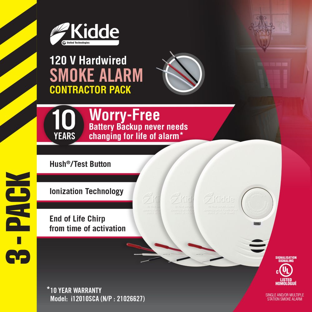 Worry Free Smoke Alarms - 3 Pack