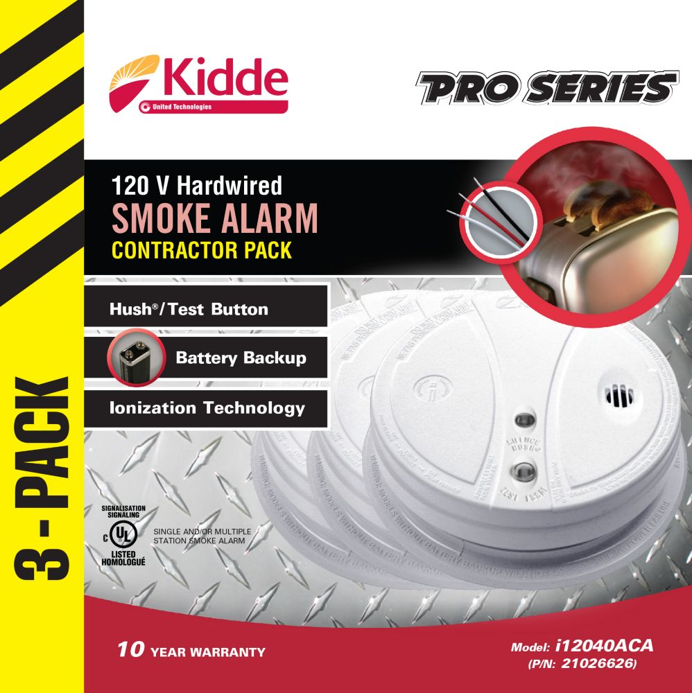 Smoke Alarms - 3 Pack Ionization