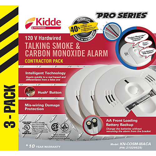 Talking Combination Alarms (3-Pack)
