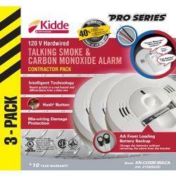 Kidde Talking Combination Alarms (3-Pack)