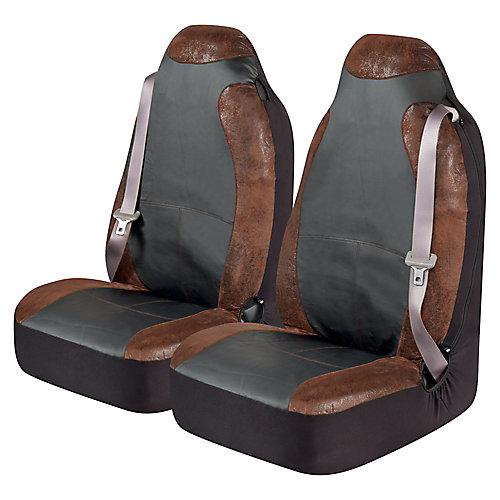 Burlington Big Truck Universal Bucket Seat Cover Pr. - BRN
