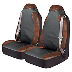 Kraco Burlington Big Truck Universal Bucket Seat Cover Pr. - BRN
