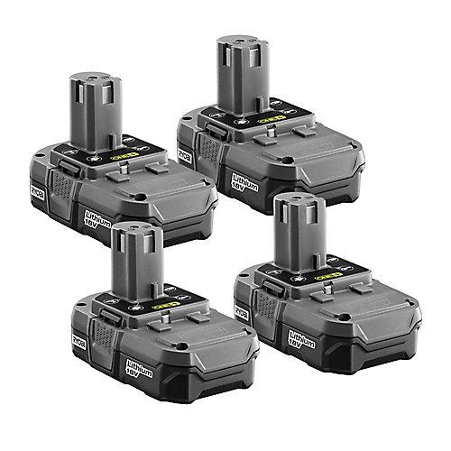 Bloc-batterie ONE+, compact, au Li-ion, 20 V, 1,3Ah (paquet de 4)