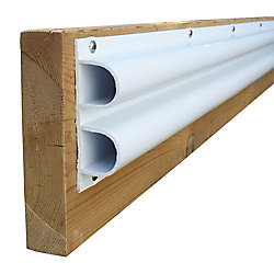 "Dock Edge Double ""D"" Profile, 40 feet/carton, White"