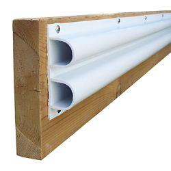 "Dock Edge Double ""D"" Profile, 40 feet/carton, White"