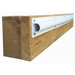 "Dock Edge Single ""D"" Profile, 80 feet/carton, White"