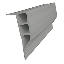 Dock Edge Full Face Profile, 24 feet/carton, Grey