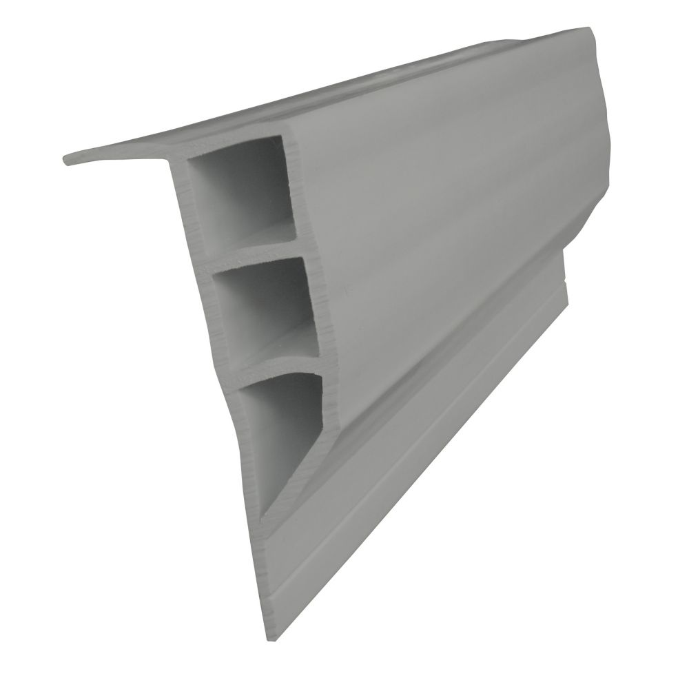 Dock Edge Full Face Profile, 24 feet/carton, Grey