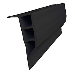 Dock Edge Full Face Profile, 24 feet/carton, Black
