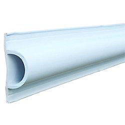 Dock Edge D Profile, 16 ft. Roll, White