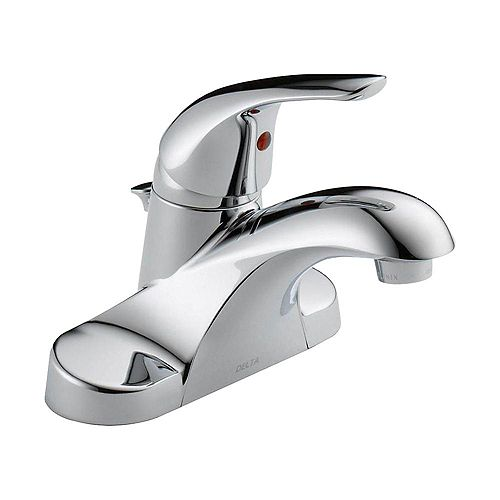 Delta Foundations 4 inch Centerset Single-Handle Bathroom Faucet in Chrome