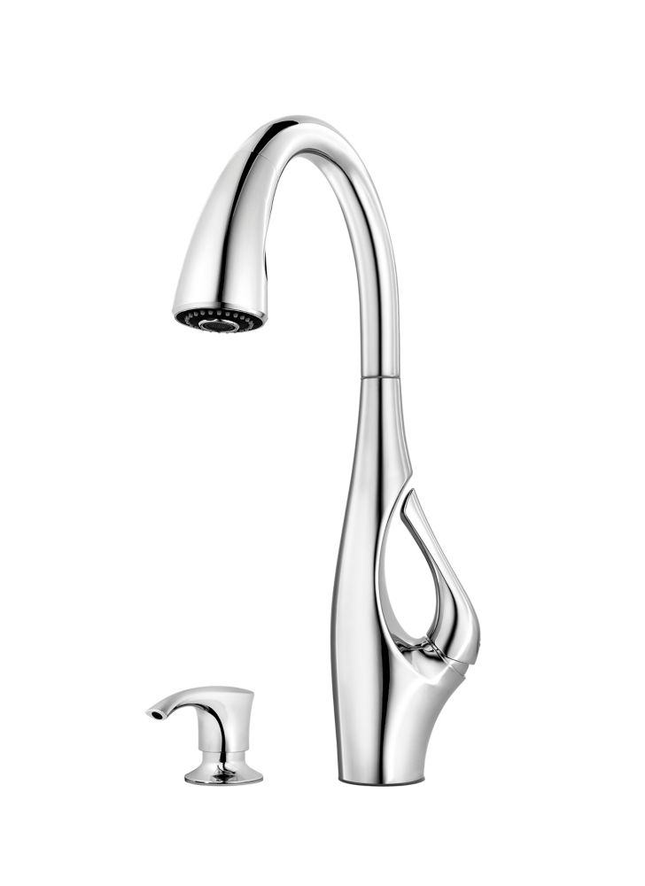 Pfister Indira Single Lever Pulldown Kitchen Faucet In