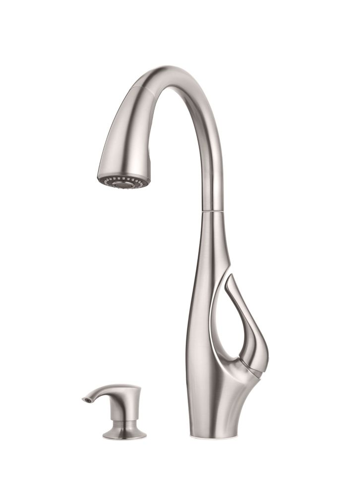 Pfister Indira Pulldown Kitchen Faucet In Stainless Steel