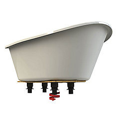 Orchestra 5 ft. Freestanding Front-Drain fibreglass Bathtub in White