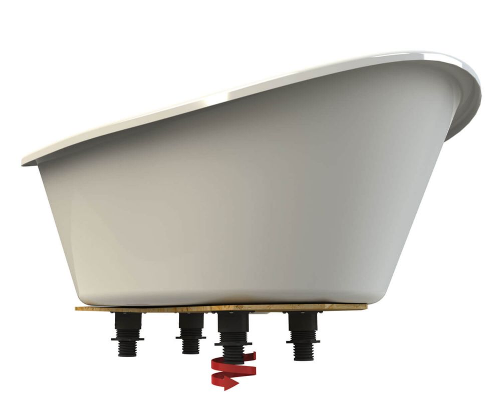 MAAX Orchestra 5 ft. Freestanding Front-Drain fibreglass Bathtub in ...