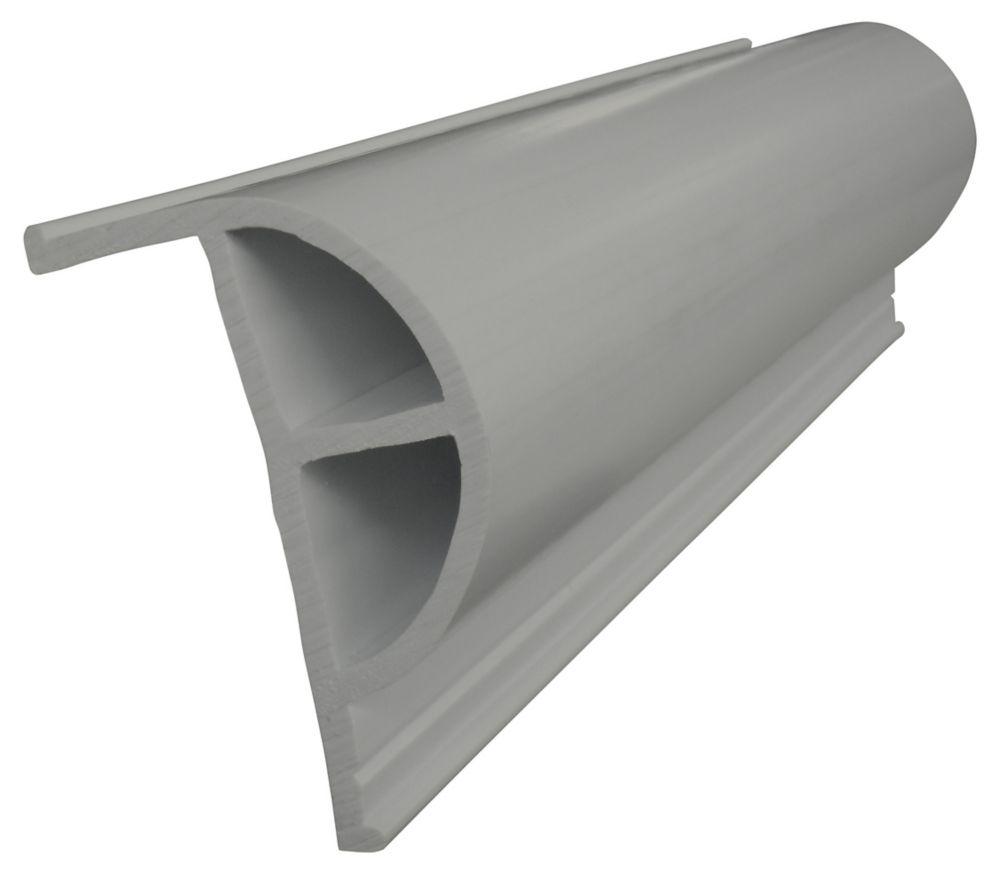 Butoir robuste en «P» PRODOCK, 24 pi/boîte, gris
