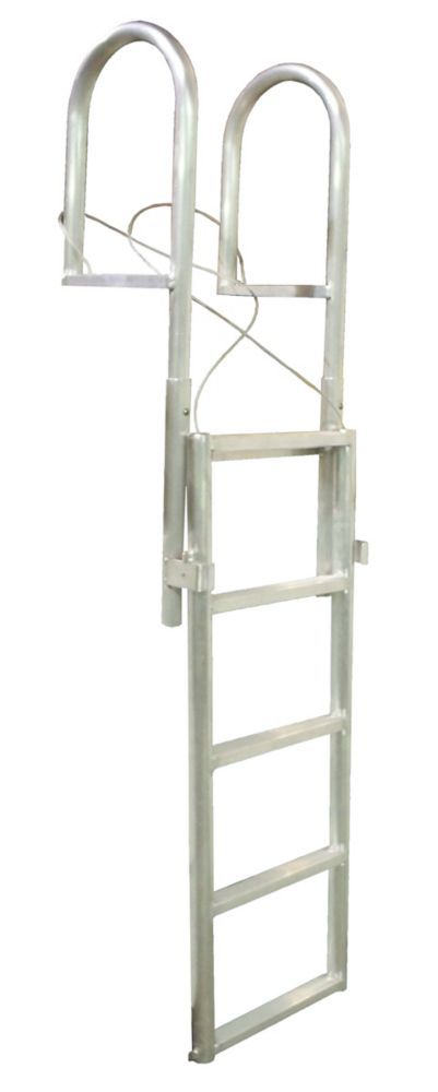 Aluminum Dock Ladder, 5-Step Slide-Up