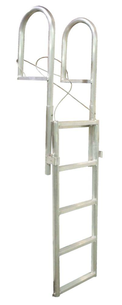 Aluminum Dock Ladder, 5-Step Slide-Up