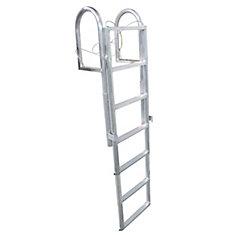 Aluminum Dock Ladder, 7-Step Slide-Up