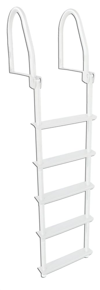 New Wide-step Welded Aluminum Fixed Ladder dock Edge 2045-f 5-Step Complete