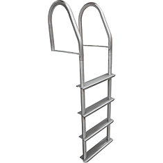 4 Step Stainless Steel Fixed Dock Ladder