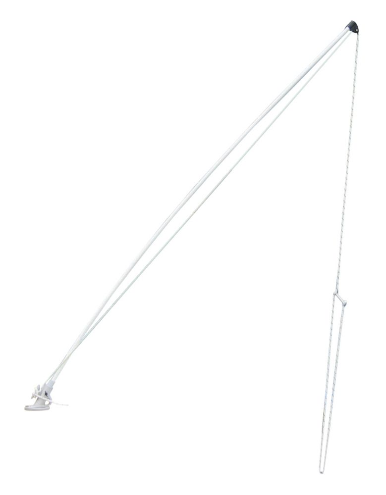 Mooring Whips, 8 feet, White Econo