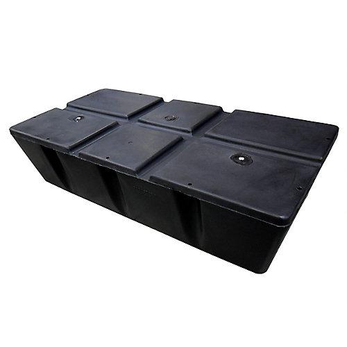 2 ft. x 4 ft. x 8-inch 250 lbs. Capacity Foamed Dock Float