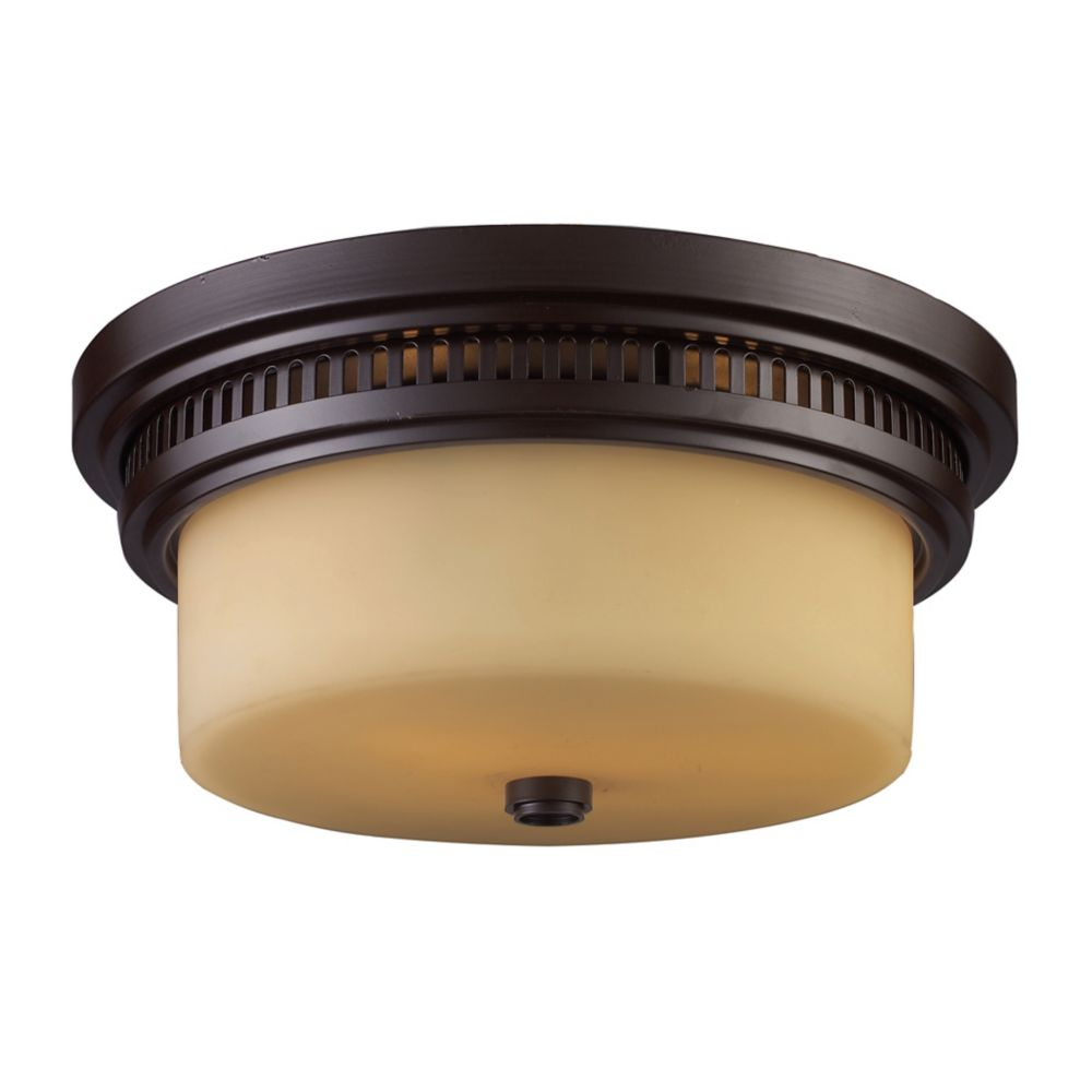 Chadwick 2-Light Flush Mount In Oiled Bronze