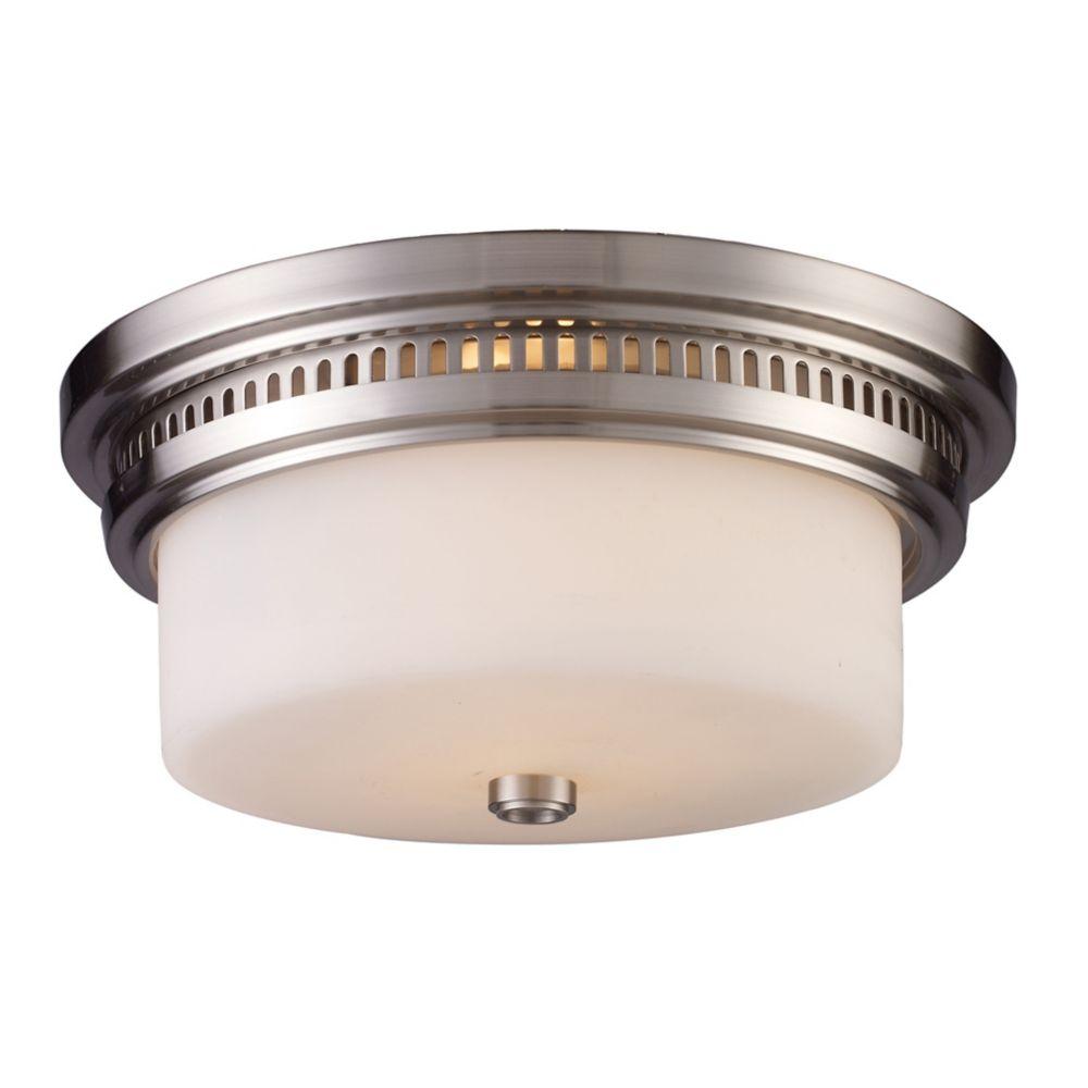 Chadwick 2-Light Flush Mount In Satin Nickel - LED