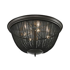 Pesaro 4 Light Flushmount In Oil Rubbed Bronze