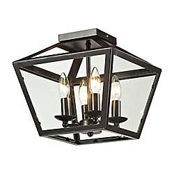Titan Lighting Alanna Collection 2 Light Flush Mount In Oil Rubbed Bronze