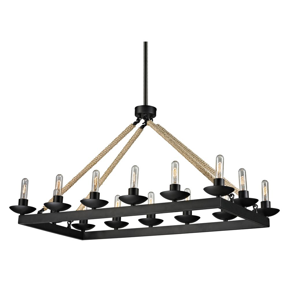 Pearce Collection 14 Light Chandelier In Matte Black